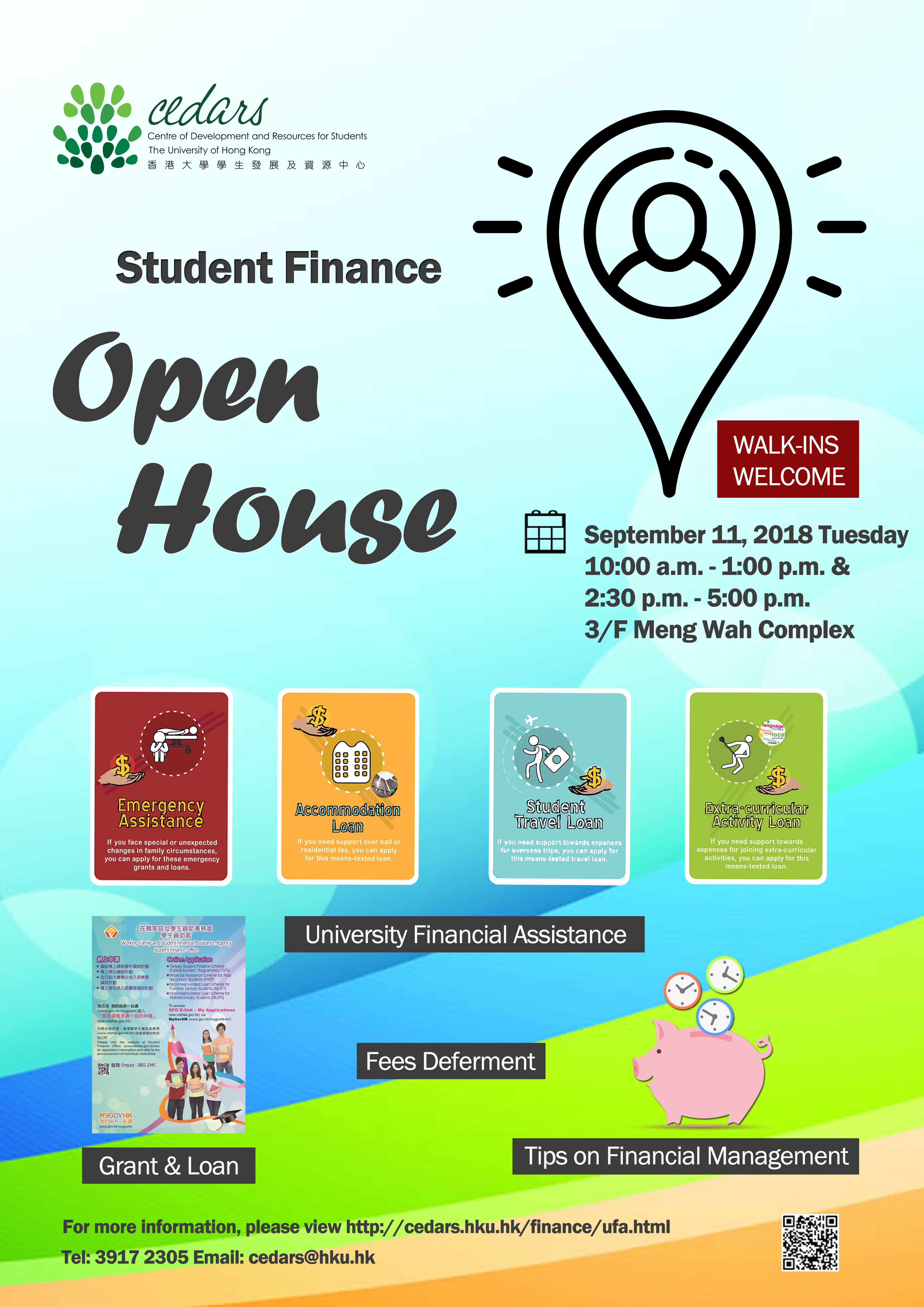 read Student Finance - Open House (11 Sept)