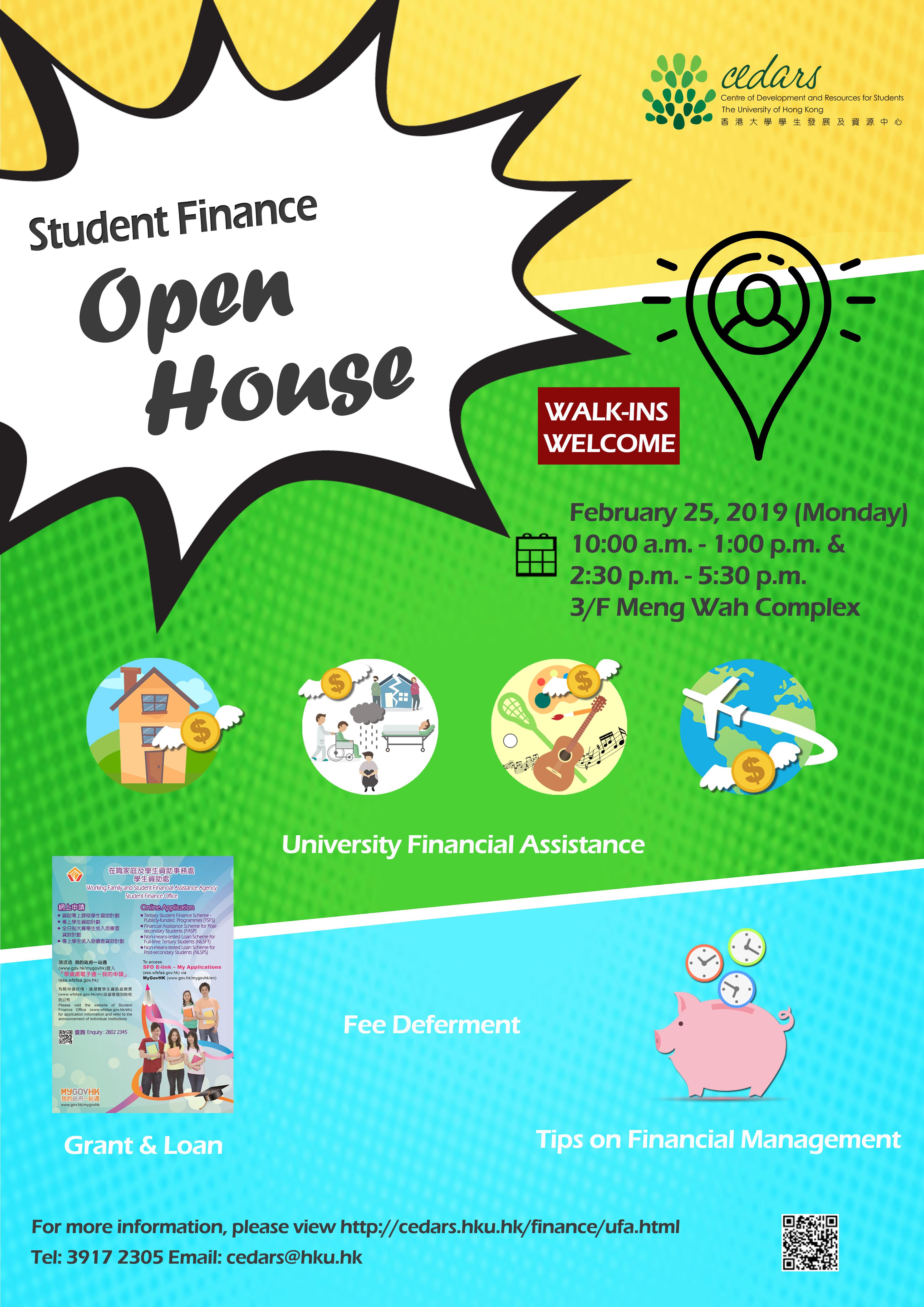 read Student Travel Loan / Accommodation Loan - Open House (25 Feb)
