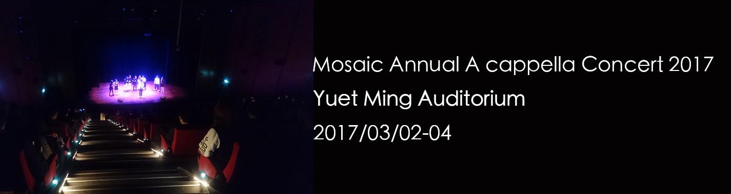 Mosaic Annual A cappella Concert 2017