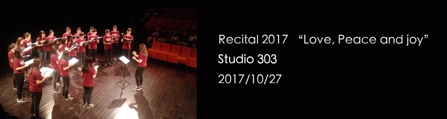 "Recital 2017 ""Love, Peace and Joy"""