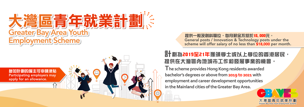 Banner: Greater Bay Area Youth Employment Scheme (GBA YES)