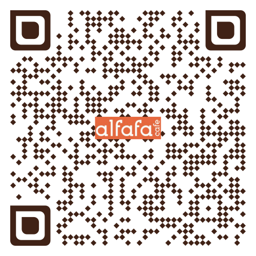 QR Code to place order at alfafa cafe