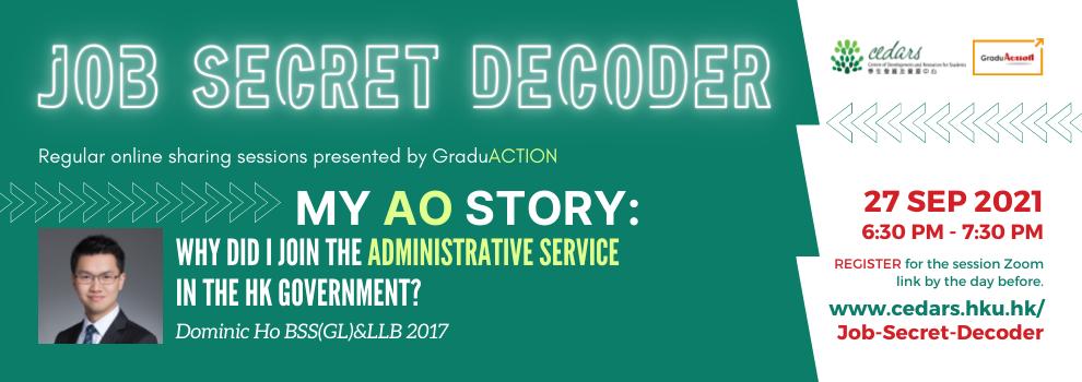 Job Secret Decoder on 27 September